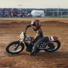 Nicky in early amateur dirt track action. - Photo: Hayden Family Collection