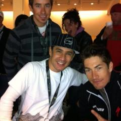 Nicky at the Anaheim Supercross with brother Tommy and former motocrosser Ernesto Fonseca. - Photo: Nicky Hayden