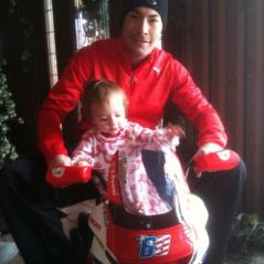 Nicky celebrates Christmas with the newest addition to the Hayden clan. - Photo: Nicky Hayden