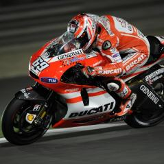 Nicky under the lights at Qatar. - Photo: Milagro/Ducati