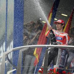 Celebrating the Ducati Team's first podium of the 2011 season, at Jerez. - Photo: Milagro/Ducati