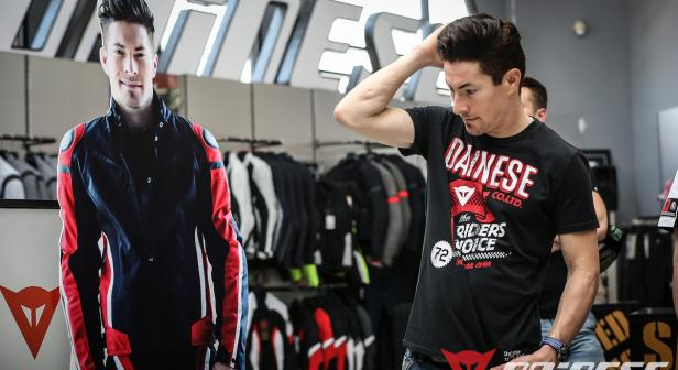 Nicky visiting Dainese D-Store in Thailand