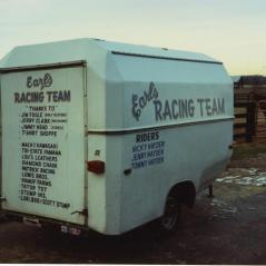 The Hayden family's first race trailer. - Photo: Hayden Family Collection