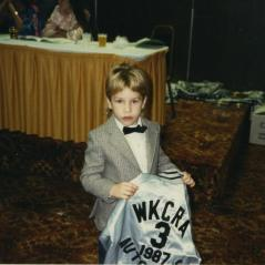 A young Nicky collects an award at a WKCRA banquet. - Photo: Hayden Family Collection