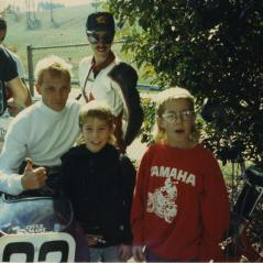 Nicky and Tommy pose with Scott Russell. - Photo: Hayden Family Collection