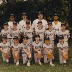 The Jets--one of the Little League teams the Haydens played for. (Nicky in middle row on the right.) - Photo: Hayden Family Collection