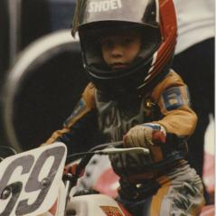 Nicky ready for action on a PW50. - Photo: Hayden Family Collection