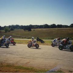 One of the family's first CMRA road races. (Nicky in the middle.) - Photo: Hayden Family Collection