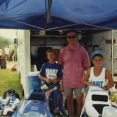 Tommy and Nicky pose with Freddie Spencer. - Photo: Hayden Family Collection